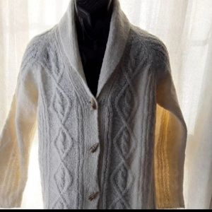 Susan Graver S Cable Knit Cardigan chunky Sweater